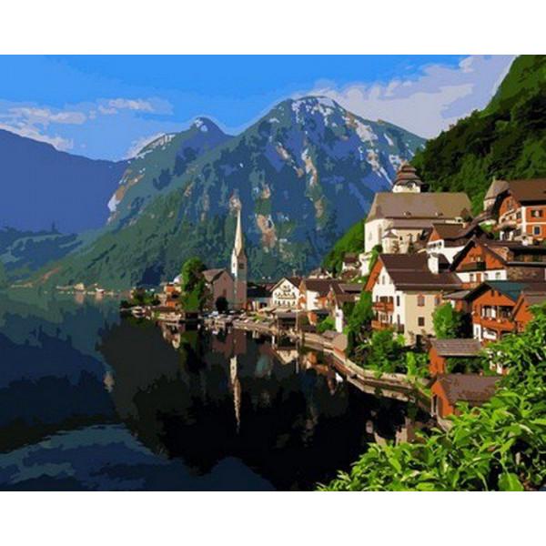 """Картина по номерам """"Альпийская деревня"""""""