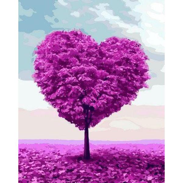 "Картина по номерам ""Дерево любви"""