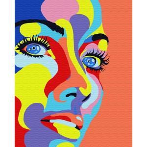 """Картина по номерам """"Абстрактный портрет"""""""