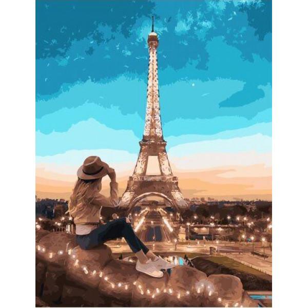 """Картина по номерам """"Вид на Париж"""""""
