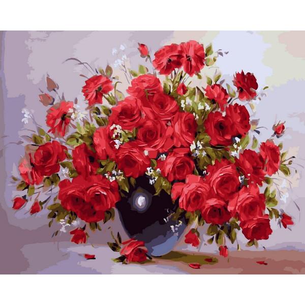 """Картина по номерам """"Аромат красных роз"""""""