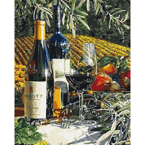 "Картина по номерам ""Бокал вина"""