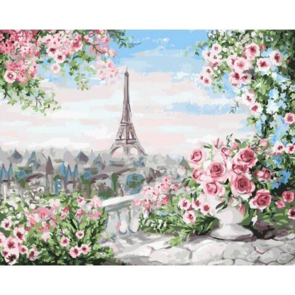 "Картина по номерам ""Вид из парижского сада"""