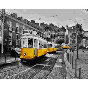 """Картина по номерам """"Желтый трамвайчик"""""""