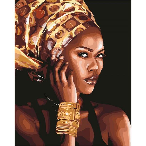 "Картина по номерам ""Африканская мода"""