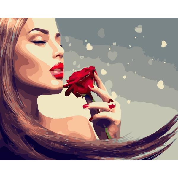 "Картина по номерам ""Аромат розы"""
