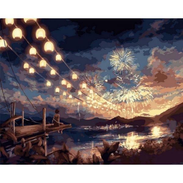 """Картина по номерам """"Волшебный фейерверк"""""""