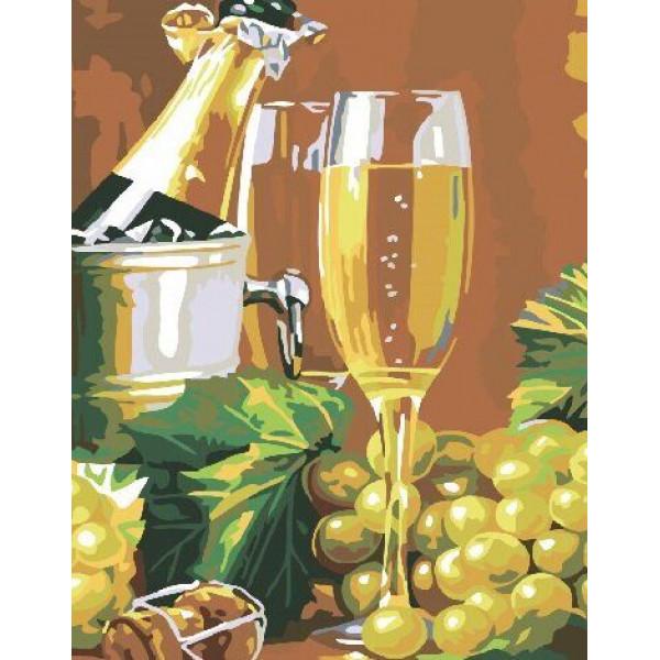"Картина по номерам ""Виноград с шампанским"""