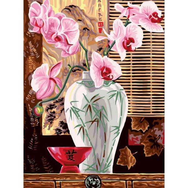 """Картина по номерам """"Восточные орхидеи"""""""