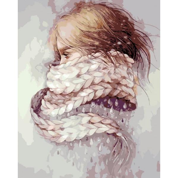 """Картина по номерам """"Девушка-зима"""""""