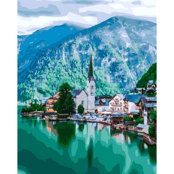 """Картина по номерам """"Альпийская деревушка"""""""