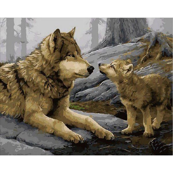 "Картина по номерам ""Волчонок"""