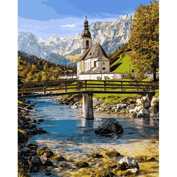 """Картина по номерам """"Альпийская часовня"""""""