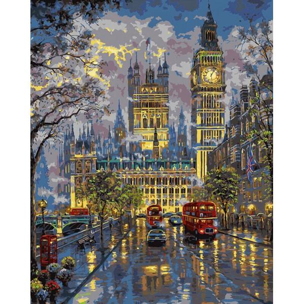"""Картина по номерам """"Дворец Вестминстер"""""""