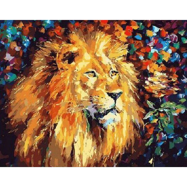 """Картина по номерам """"Великолепный лев."""""""