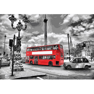 "Картина по номерам ""Яркий автобус"""