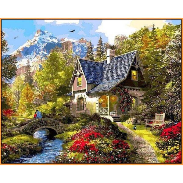 """Картина по номерам """"Вечер в Альпах"""""""