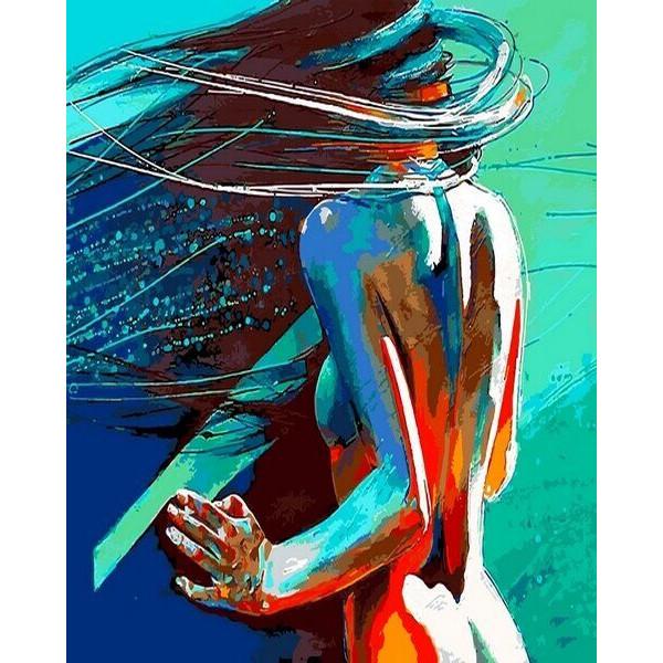 """Картина по номерам """"Ветер в волосах"""""""