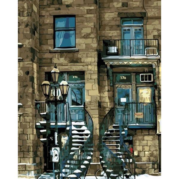 """Картина по номерам """"Городской дом"""""""