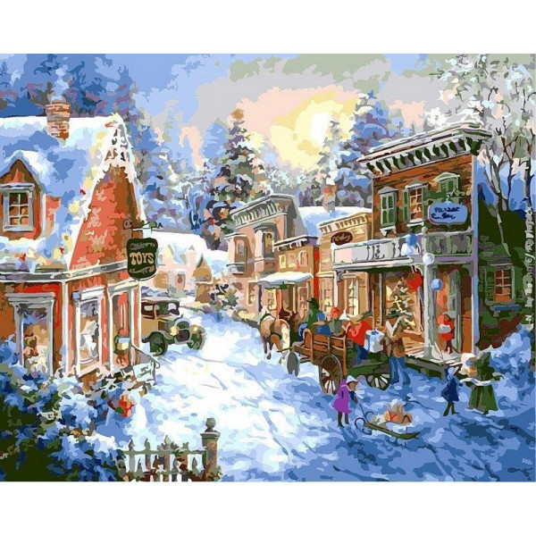 "Картина по номерам ""В преддверии Рождества"""