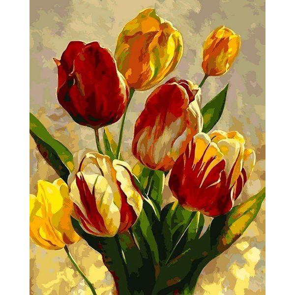 """Картина по номерам """"Весенние тюльпаны"""""""