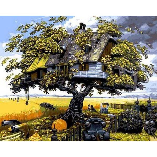 "Картина по номерам ""Домик на дереве"""