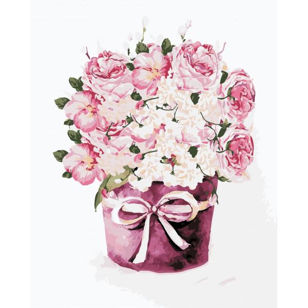 """Картина по номерам """"Букет чайных роз"""""""