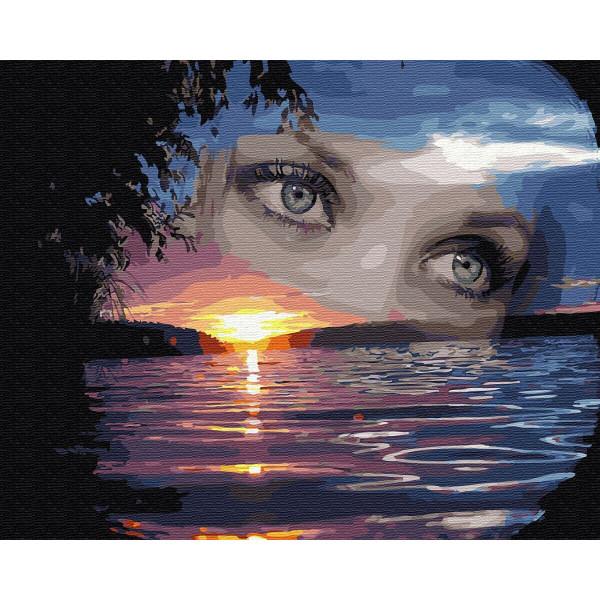 "Картина по номерам ""Глаза на закате"""