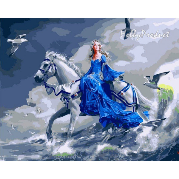 "Картина по номерам ""Девушка на лошади"""
