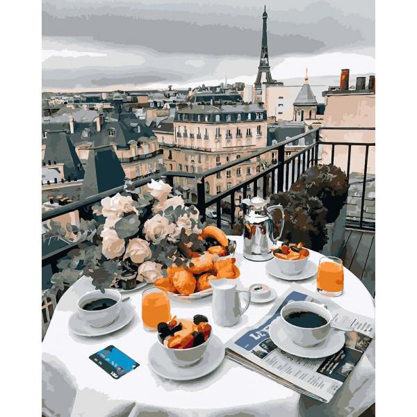 """Картина по номерам """"Бизнес завтрак в Париже"""""""