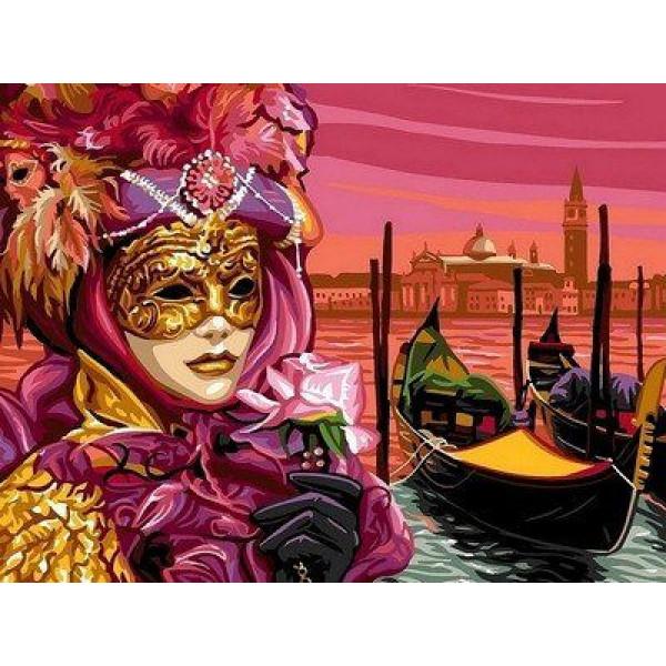 """Картина по номерам """"Венецианская маска"""""""