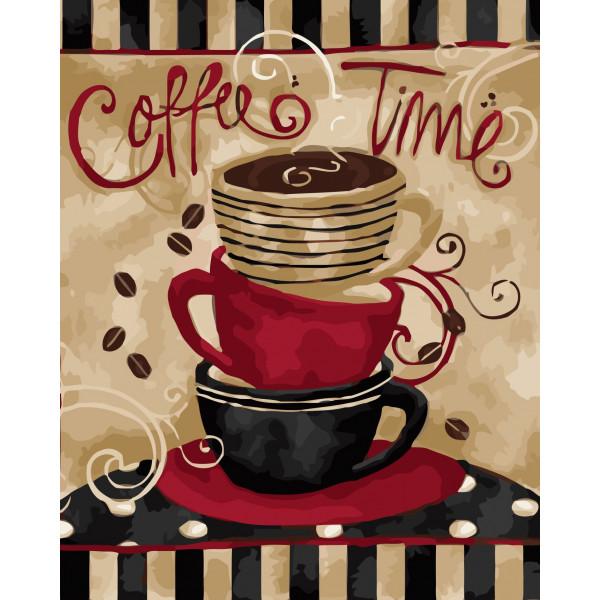 """Картина по номерам """"Время кофе"""""""