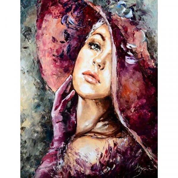 "Картина по номерам ""Девушка в розовом"""