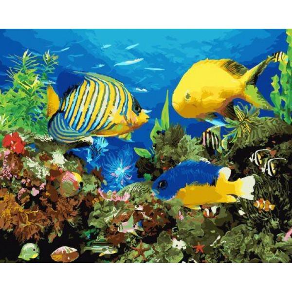 """Картина по номерам """"Аквариумные рыбки"""""""