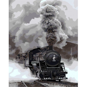 """Картина по номерам """"Прибытие поезда"""""""