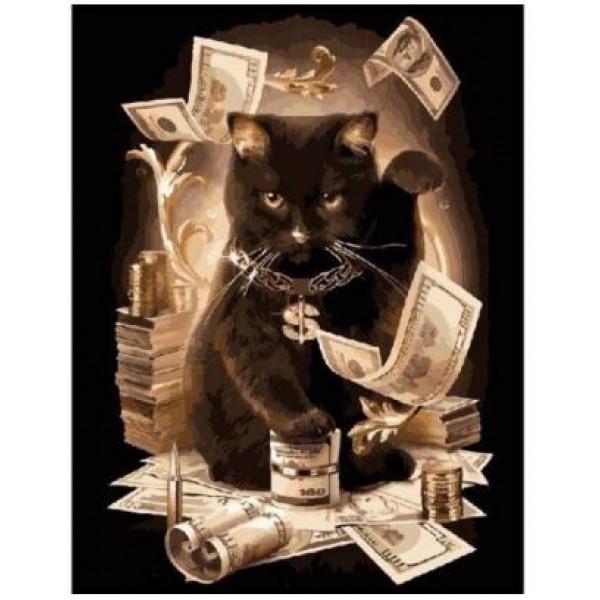 "Картина по номерам ""Денежный кот"""