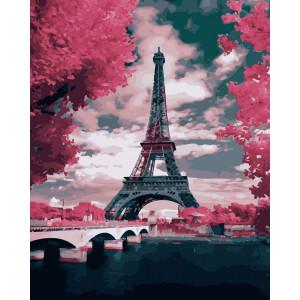 """Картина по номерам """"Лиловый Париж"""""""
