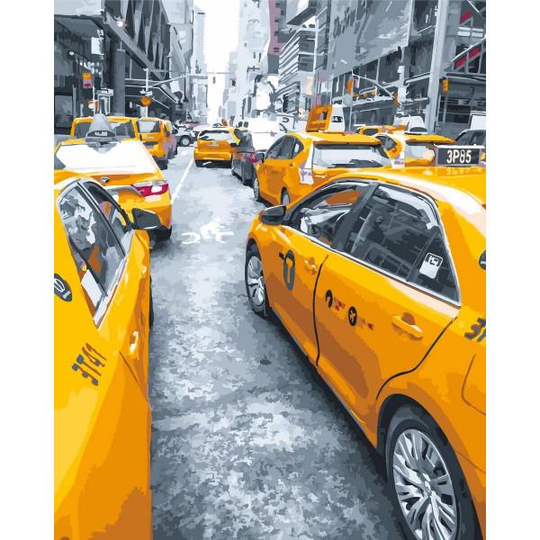 """Картина по номерам """"Желтое такси"""""""