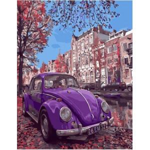 """Картина по номерам """"Фиолетовый жук"""""""