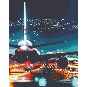 "Картина по номерам ""Огни аэропорта"""