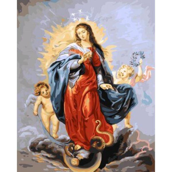 """Картина по номерам """"Дева Мария"""""""