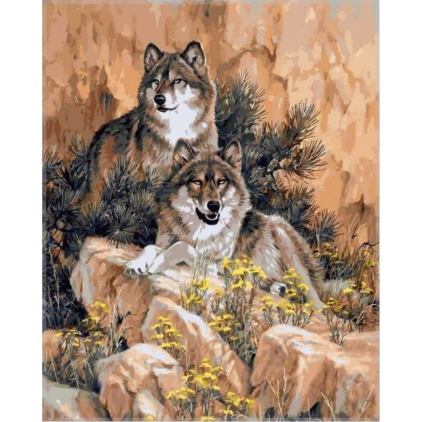 """Картина по номерам """"Волки"""""""