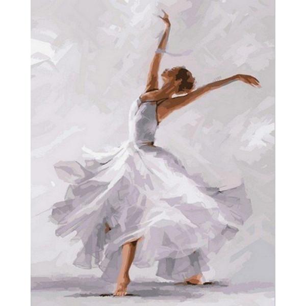 "Картина по номерам ""Белый танец"""