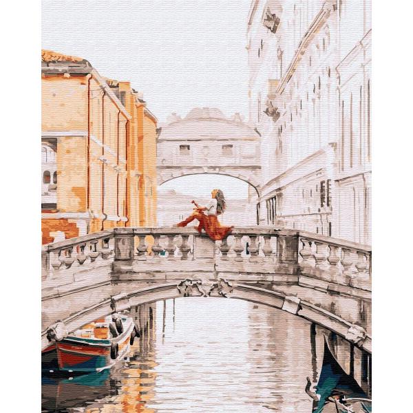 """Картина по номерам """"Девушка на мосту Венеции"""""""