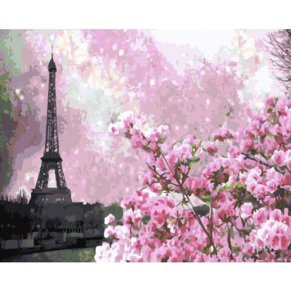 "Картина по номерам ""Весенний Париж"""