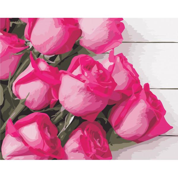 """Картина по номерам """"Благородные розы"""""""