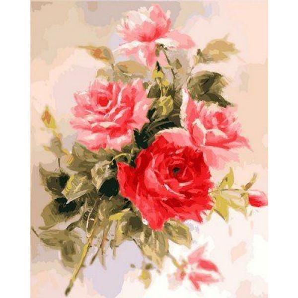 """Картина по номерам """"Великолепные розы"""""""