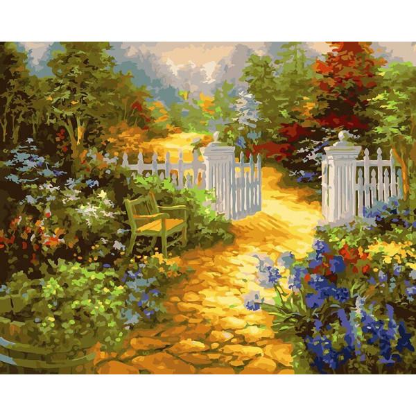 """Картина по номерам """"Ворота в сад"""""""