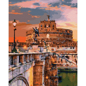 "Картина по номерам ""Замок ангела в Риме"""