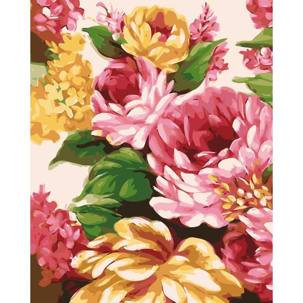 """Картина по номерам """"Живописные цветы"""""""